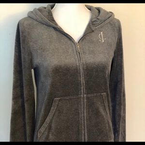 Juicy Couture Grey Velour Jacket Brand New